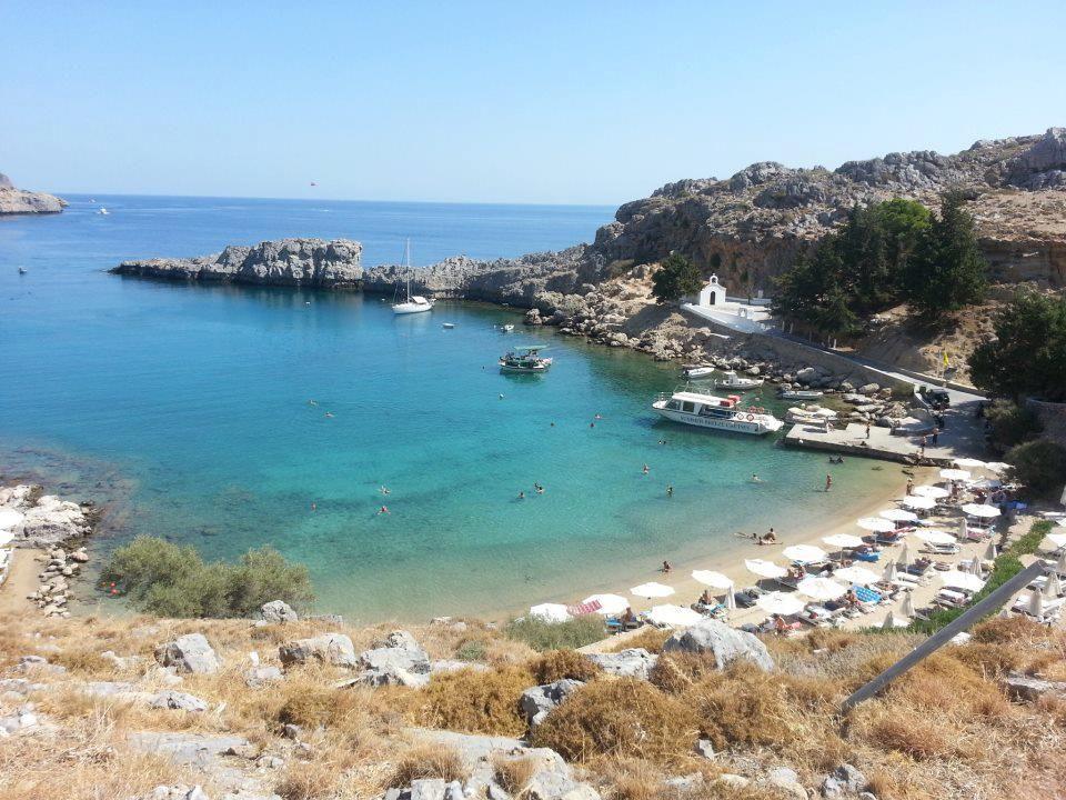 St Paul's Bay, Lindos, on Rhodes, September 2012, by Marilyn Parker via Visit Greece fb