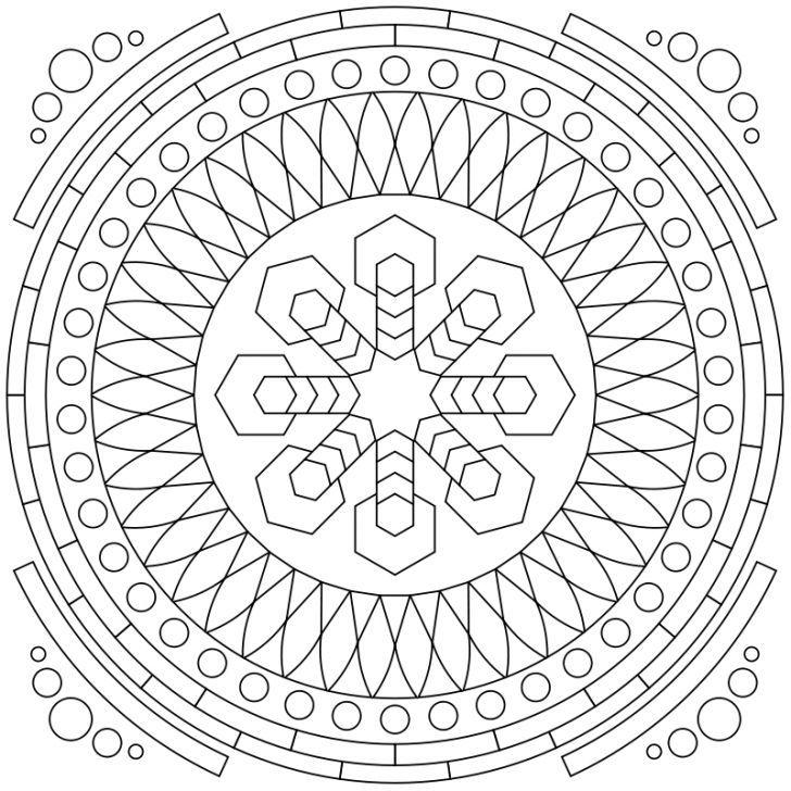 Mandala Ausmalbild Nr 75 Mandala Coloring Pages Geometric Mandala Coloring Pages