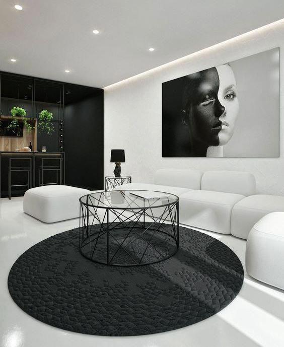30 Black White Living Rooms That Work Their Monochrome Magic: Black & White Living Rooms That Work Their Monochrome