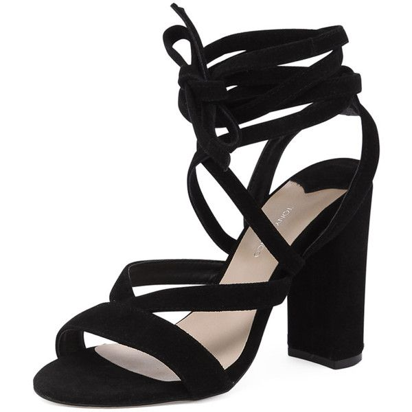 Tony Bianco Kappa Black (200 AUD) via Polyvore featuring shoes, laced shoes, evening shoes, sexy high heel shoes, cocktail shoes and black lace up shoes