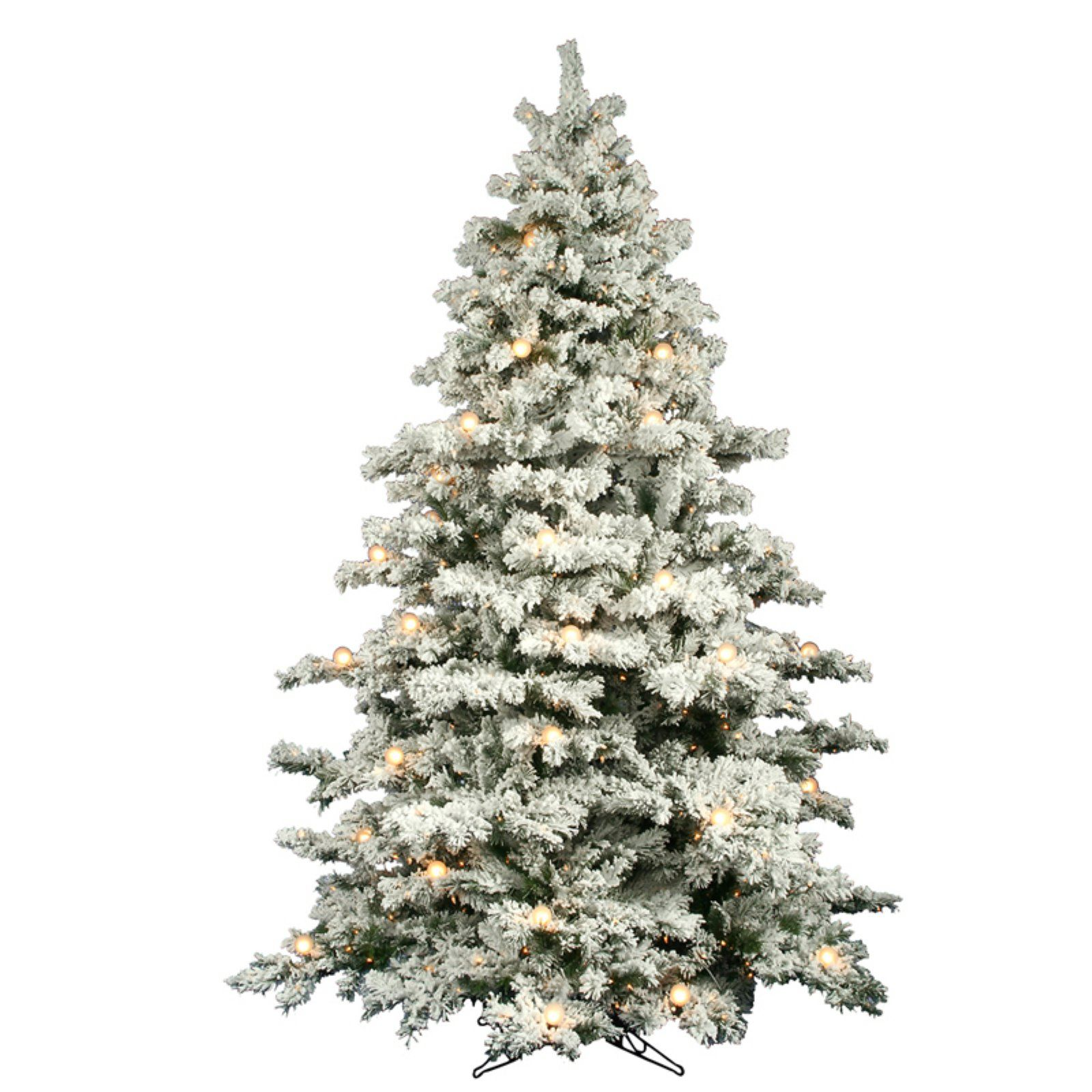 Flocked Alaskan Full Pre Lit Christmas Tree In 2019 Products