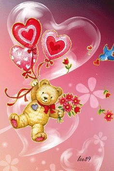 Download Animated 320x480 Cute Love Bear Cell Phone Wallpaper Category Cartoons