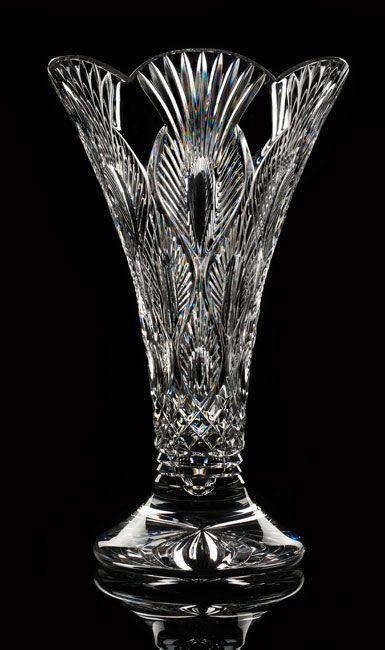 Waterford Crystal House Of Waterford Peacock 14 Crystal Vase