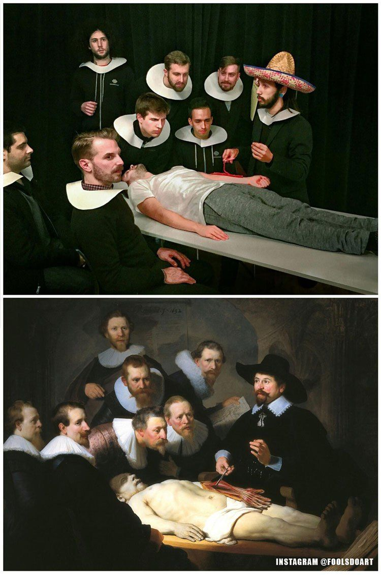 Two Coworkers Recreate Classic Paintings in the Office in Creative ...