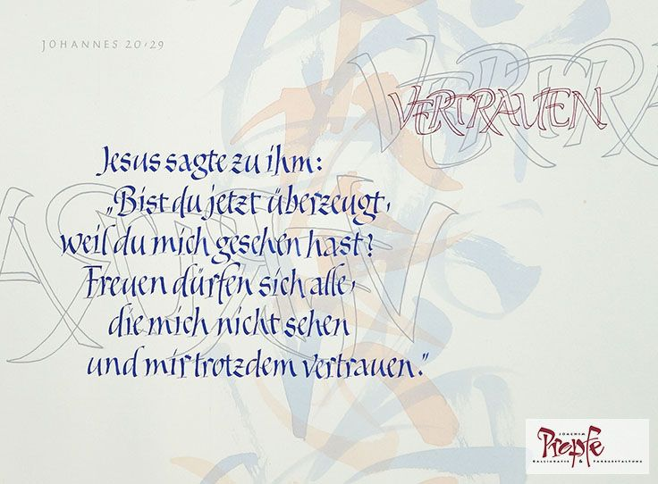 Konfirmationsspruch Karte.Kalligrafisch Gestalteter Konfirmationsspruch Konfirmation