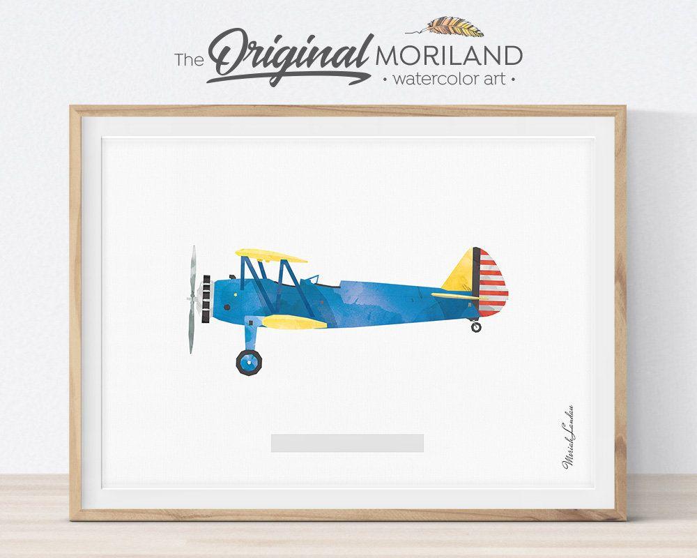 Airplane Print Transportation Print Vintage Plane Print Aviation Decor Biplane Wall Art Plane Nursery Printable Art Moriland Wall Art Aviation Decor Printable Wall Art Printable Art