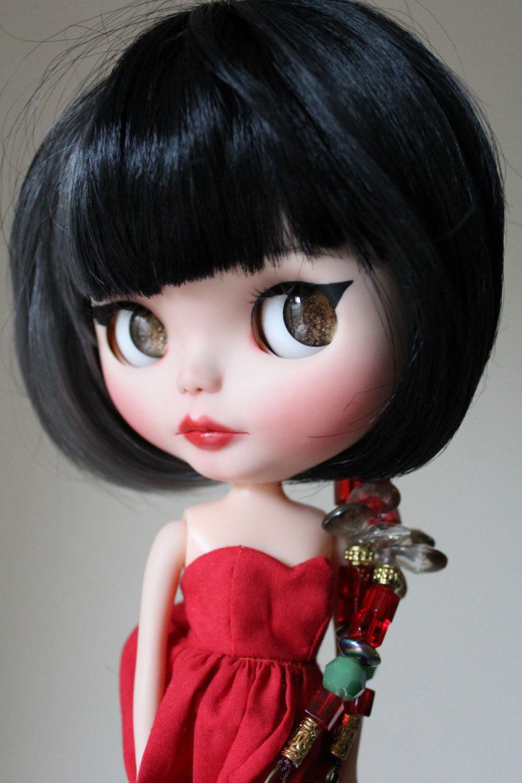 Kira a custom Blythe doll, originally Rosie Red Encore SBL