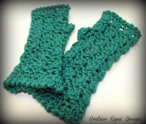 12 Free Crochet Patterns For Fingerless Gloves Wrist Warmers