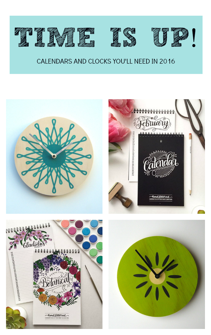 Clocks calendars and planners you can diy in 2016 do it clocks calendars and planners you can diy in 2016 solutioingenieria Image collections