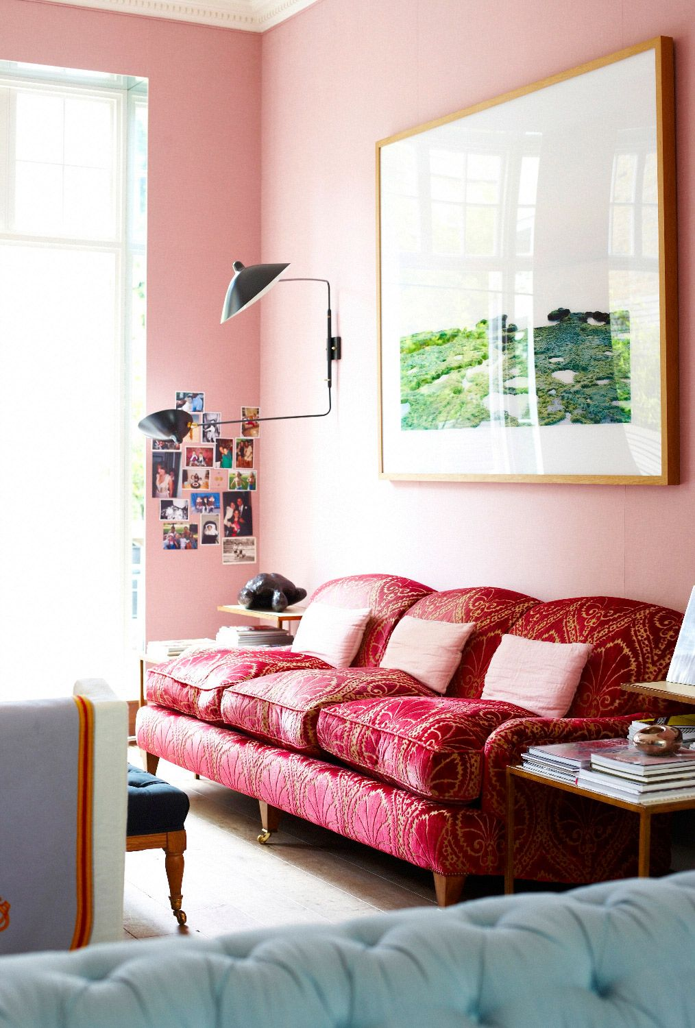 9 Pretty In Pink Rooms For Your Feminine Side Via Mydomaine Wild Rose Photo Joanna Henderson For Vogue Living Au Pink Living Room Pink Home Decor Home Decor