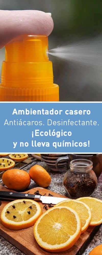 Ambientador Casero Antiacaros Desinfectante Ecologico Y No