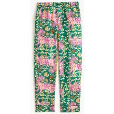 J.Crew Collection Drakes Pajama pant in Green Bengal Tiger