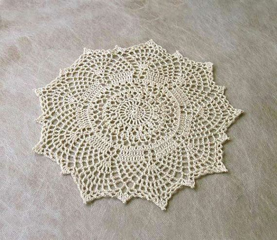 Art Deco Crochet Lace Doily New Home Decor By Nutmegcottage With Images Lace Doilies Handmade Handmade Art