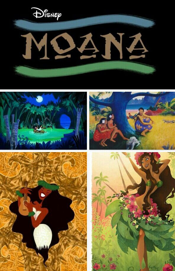 Concept art for Moana/Spirited (I've been told they changed the movie name to Spirited) the new Disney movie with the first Disney princess from Polynesia!