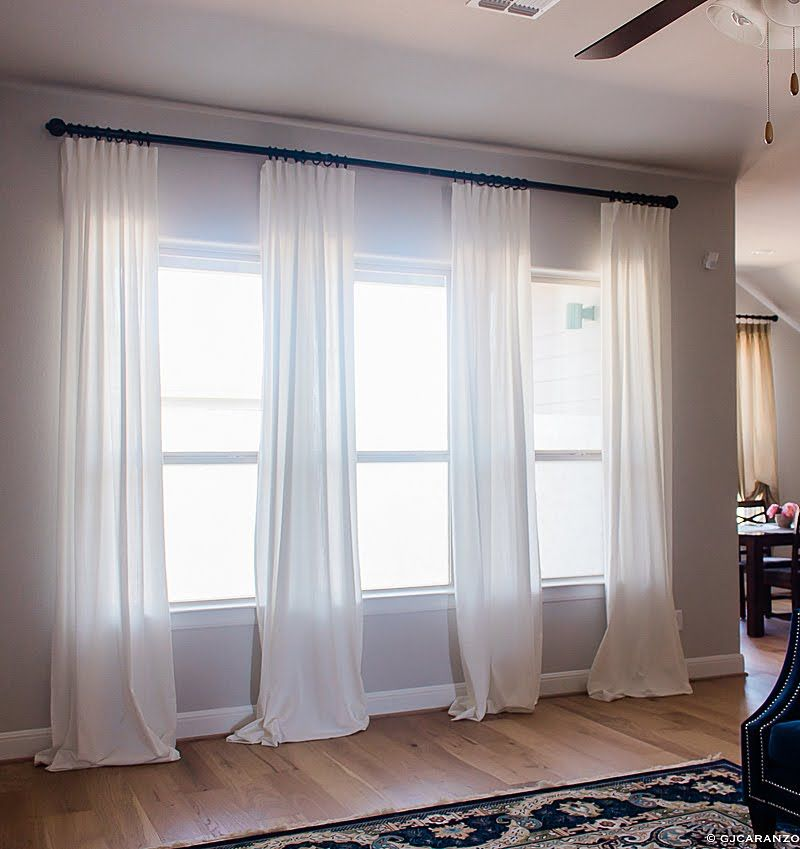 Budget Curtains For High Ceilings Window Curtains Living Room Window Treatments Living Room Large Windows Living Room