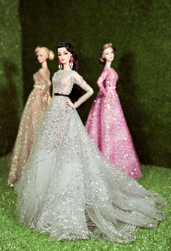 robe pour la royauté de la mode, Poppy Parker, en argent Silkstone Barbie, fr2, 12