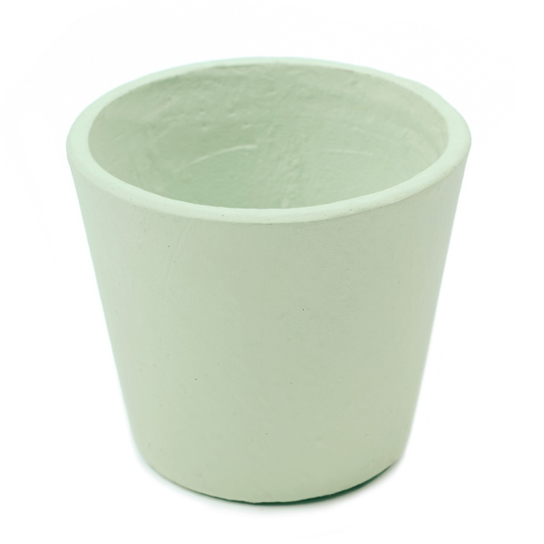 Serax Medium Mint Hand Painted Plant Pot: Medium mint hand painted plant pot by Serax. The pastel coloured plant pot has a textured hand painted finish and is made from strong terracotta.