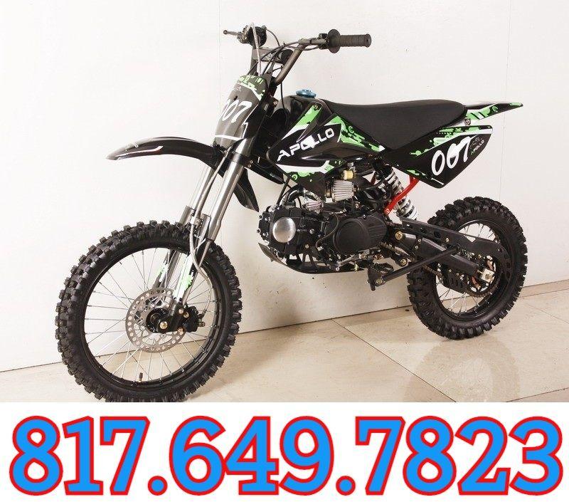 Apollo 125cc Db 007 Dirt Bike Kick Start 4 Stroke Single Cylinder Sale Price 649 00 Pit Bike Bike Dirt Bike