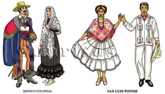 ab156bc82 Mexico colonial and San Luis Potosi costumes   Quechquemitl ...