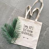 Travel tote bag wanderlust di sí a las nuevas aventuras cita bolsa de lona Travel to …