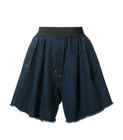 Natasha Zinko: Blue Wide Denim Shorts