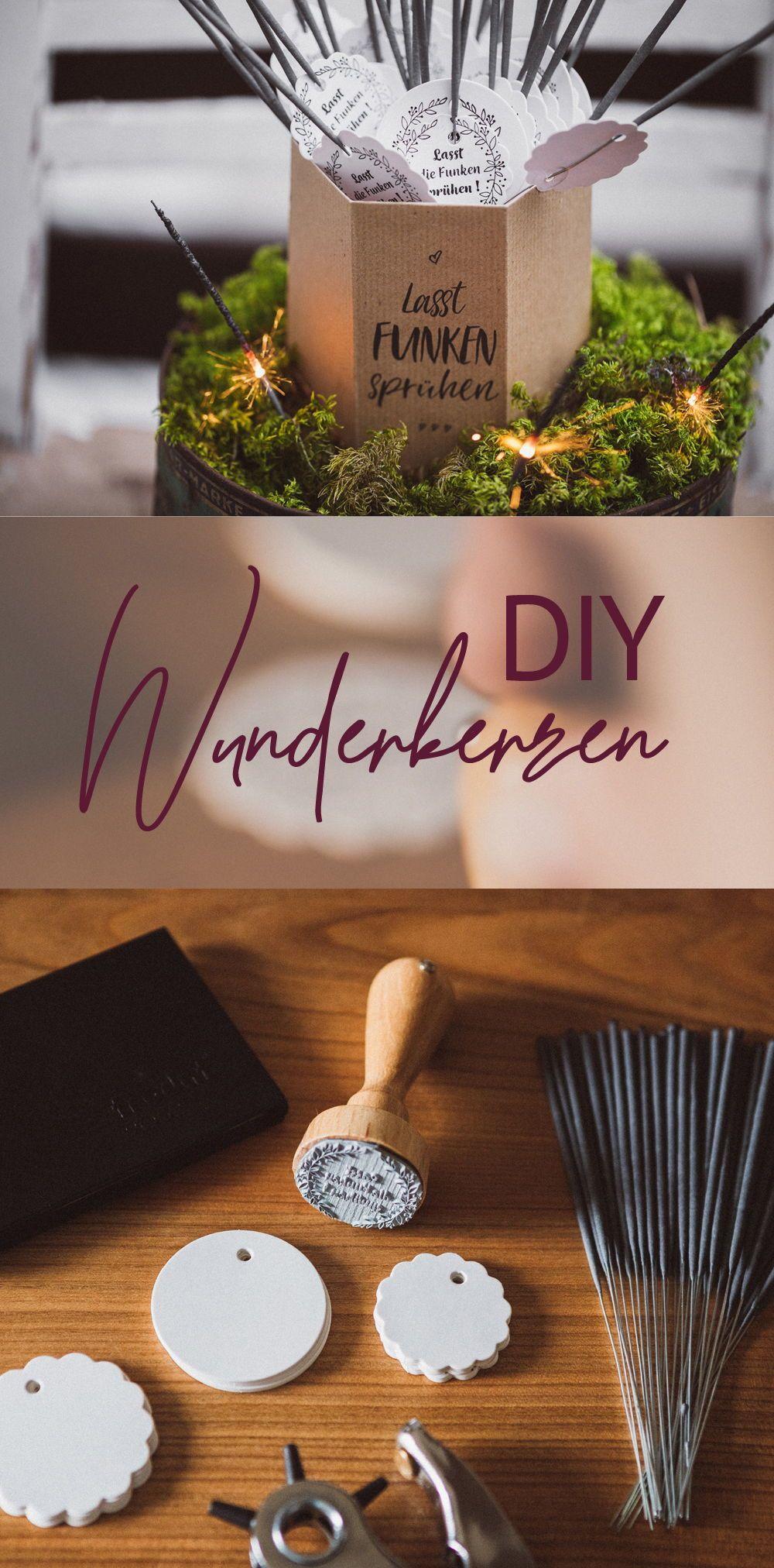 Lasst Funken sprühen: DIY Wunderkerzen für die Hochzeit