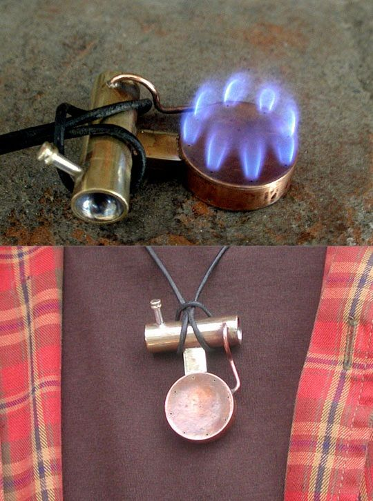 portable stove necklace in case i get trapped i can. Black Bedroom Furniture Sets. Home Design Ideas
