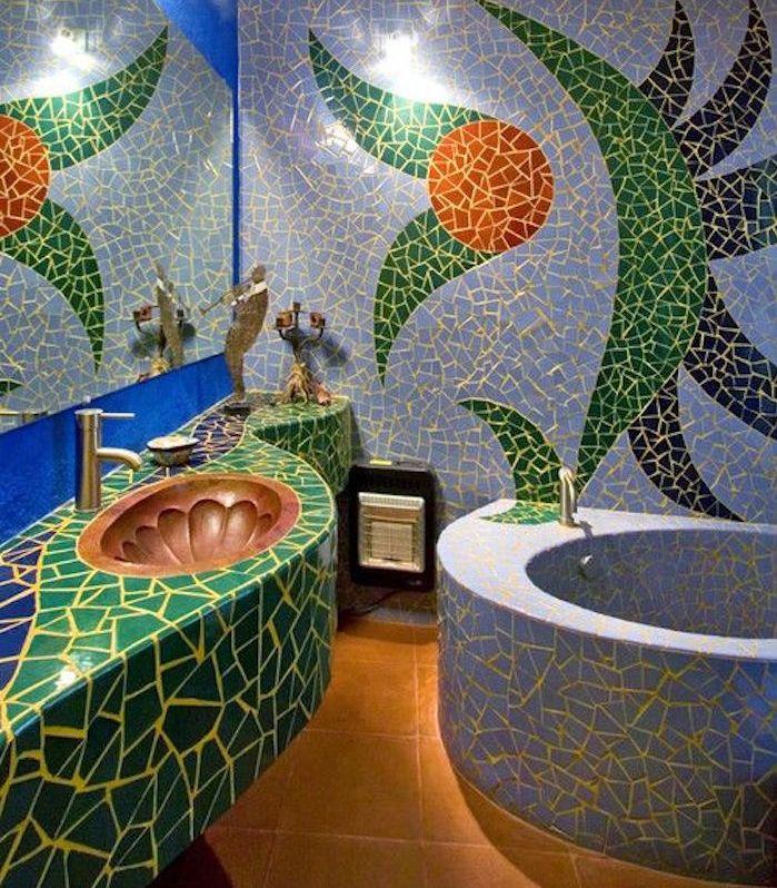rivestimenti-bagno-mosaico-vasca-rotonda-lavabo-integrato-idea ...