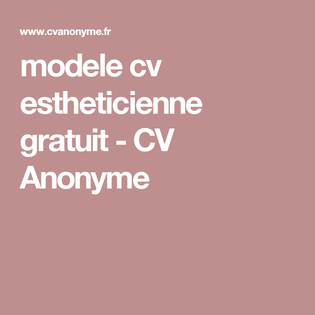 image modele cv anonyme modele cv