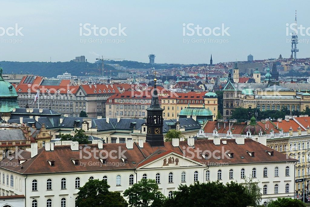 Top view from rhe Castle of Prague foto stock royalty-free