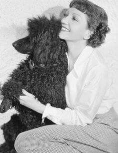 Claudette COLBERT and her Smokey