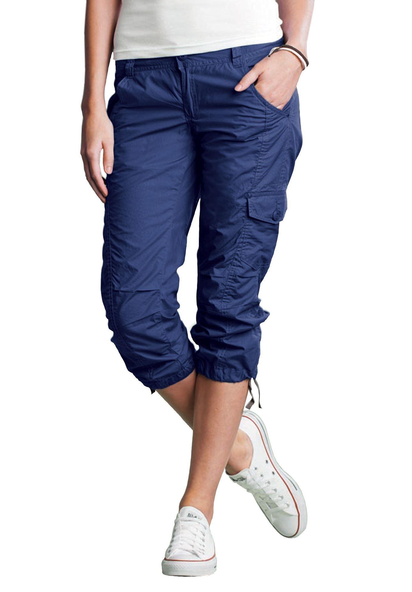 cargo capri by ellos174 plus size shorts amp capris woman