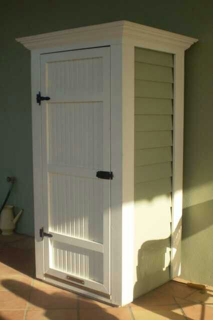 Storage To Hide The Water Heater Outside Patio Storage