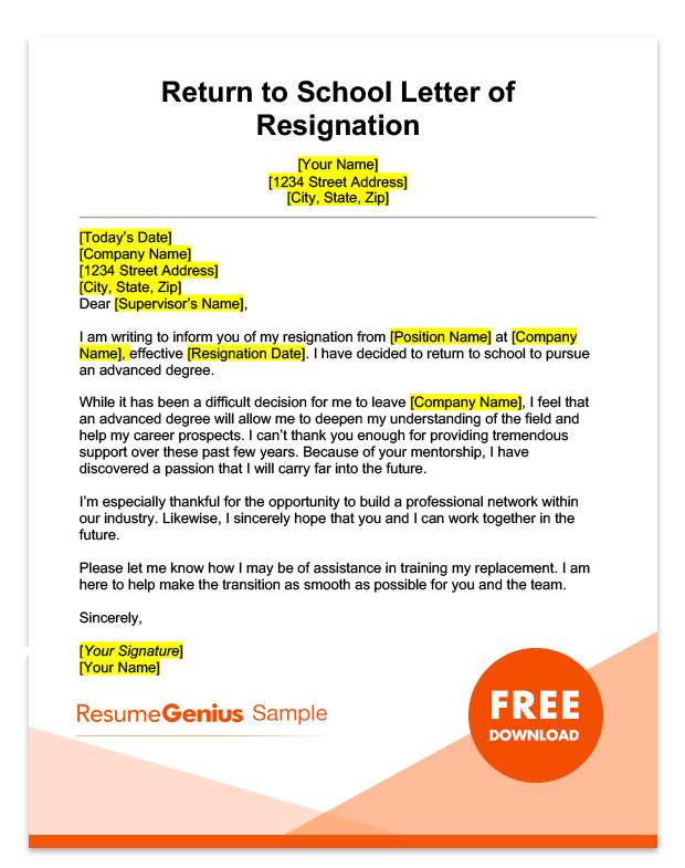LifeSpecific Resignation Letters Samples Resume Genius