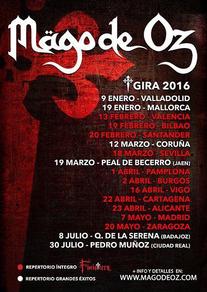 MÄGO DE OZ primeras fechas de su gira española 2016