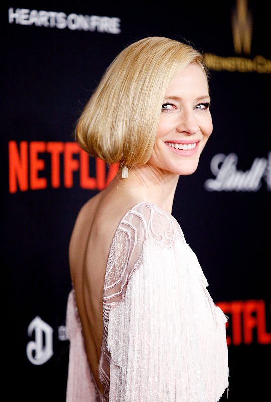 "delevingned: ""Cate Blanchett attends The Weinstein Company and Netflix Golden Globe Party, presented with DeLeon Tequila, Laura Mercier, Lindt Chocolate, Marie Claire and Hearts On Fire at The Beverly..."