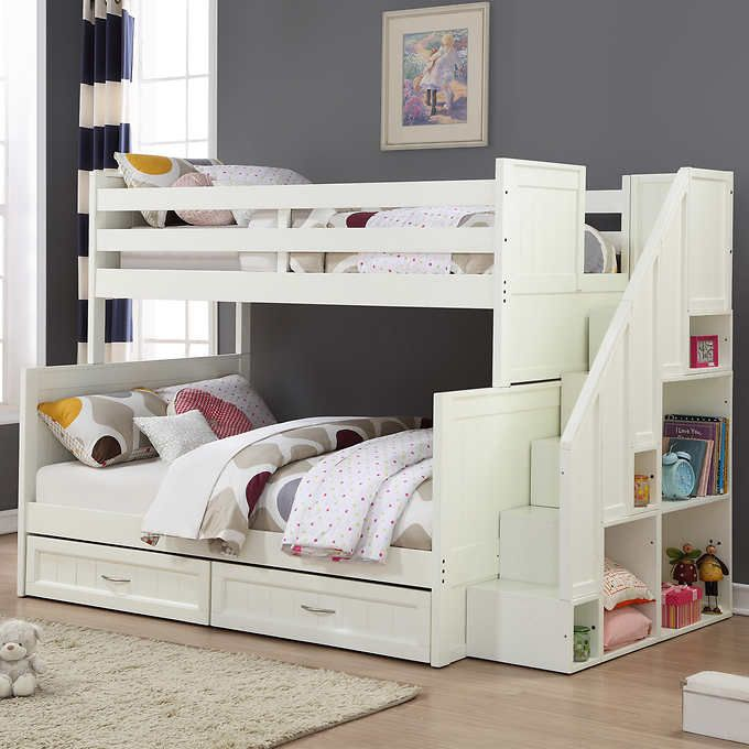 Best Jordan Twin Over Full Staircase Bunk Bed Bunk Beds Bunk 400 x 300