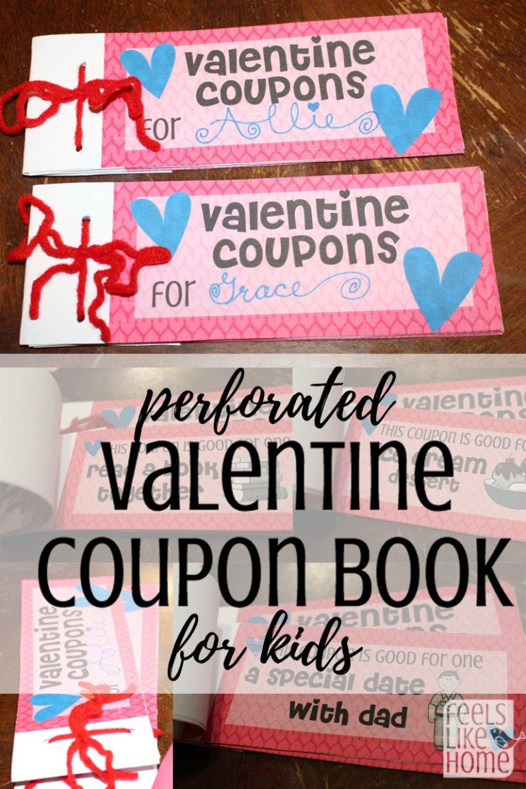 Free printable valentines coupon book for kids children