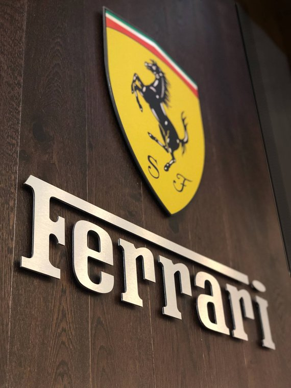 Pin By Ndr On обои In 2021 Ferrari Sign Ferrari Garage Signs