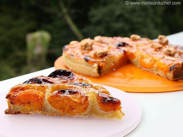 Tarte abricots aux amandes