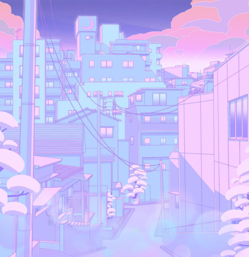 Anime Backgrounds Street Aesthetic Hairstylesinspiration Hairstyleswag Hairstylesbycharmaine In 2020 City Art Anime Scenery Scenery Wallpaper