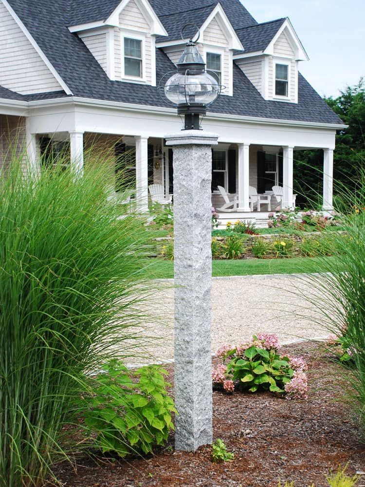 Granite Lamp Post Outdoor Lamp Posts Outdoor Lighting Modern Driveway