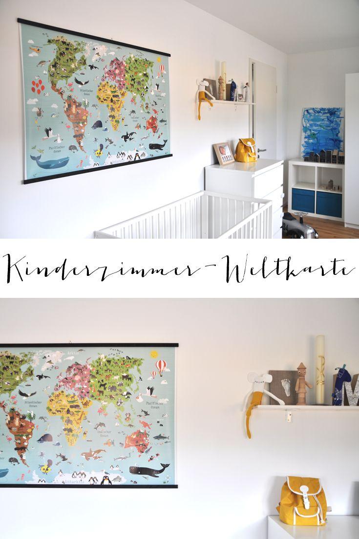 Weltkarte für's Kinderzimmer Kinder zimmer, Kinderzimmer