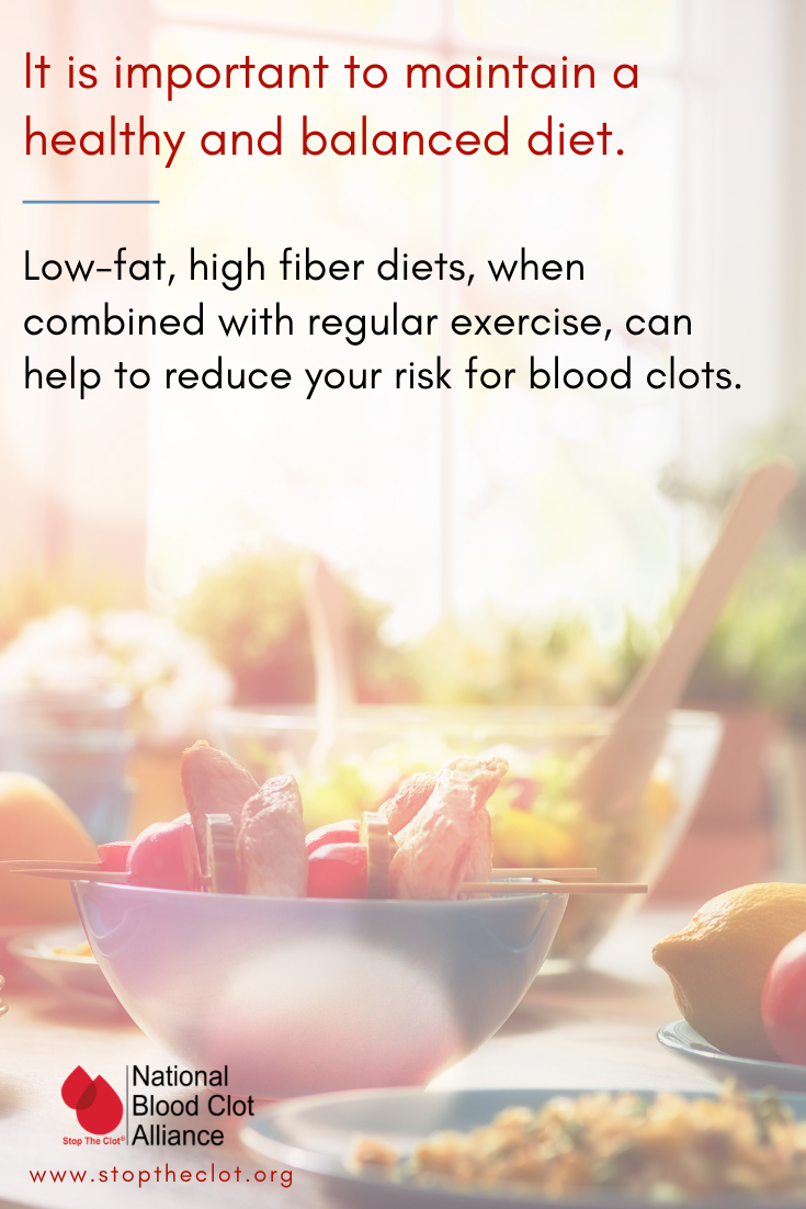 blood clot diet and exercise