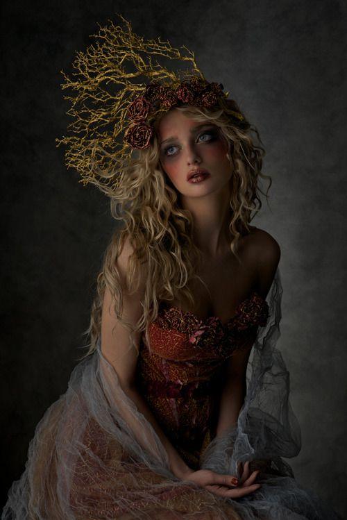 darkbeautymag:  Photographer/Wardrobe/Makeup:Agnieszka JopkiewiczModel: Dana Mostek