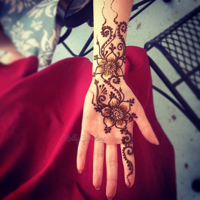 Henna Wrist Drawings: #Henna #design #flower On The Palm
