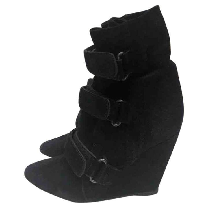 Cheap Flights Isabel Marant Leather Boots Suede Black Purdey And