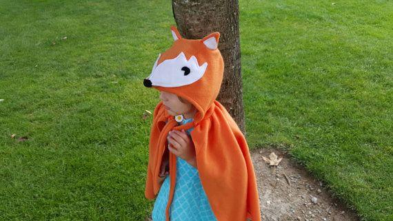 Fox Cape Halloween Costume Kids Dress Up by lilimaginationsshop