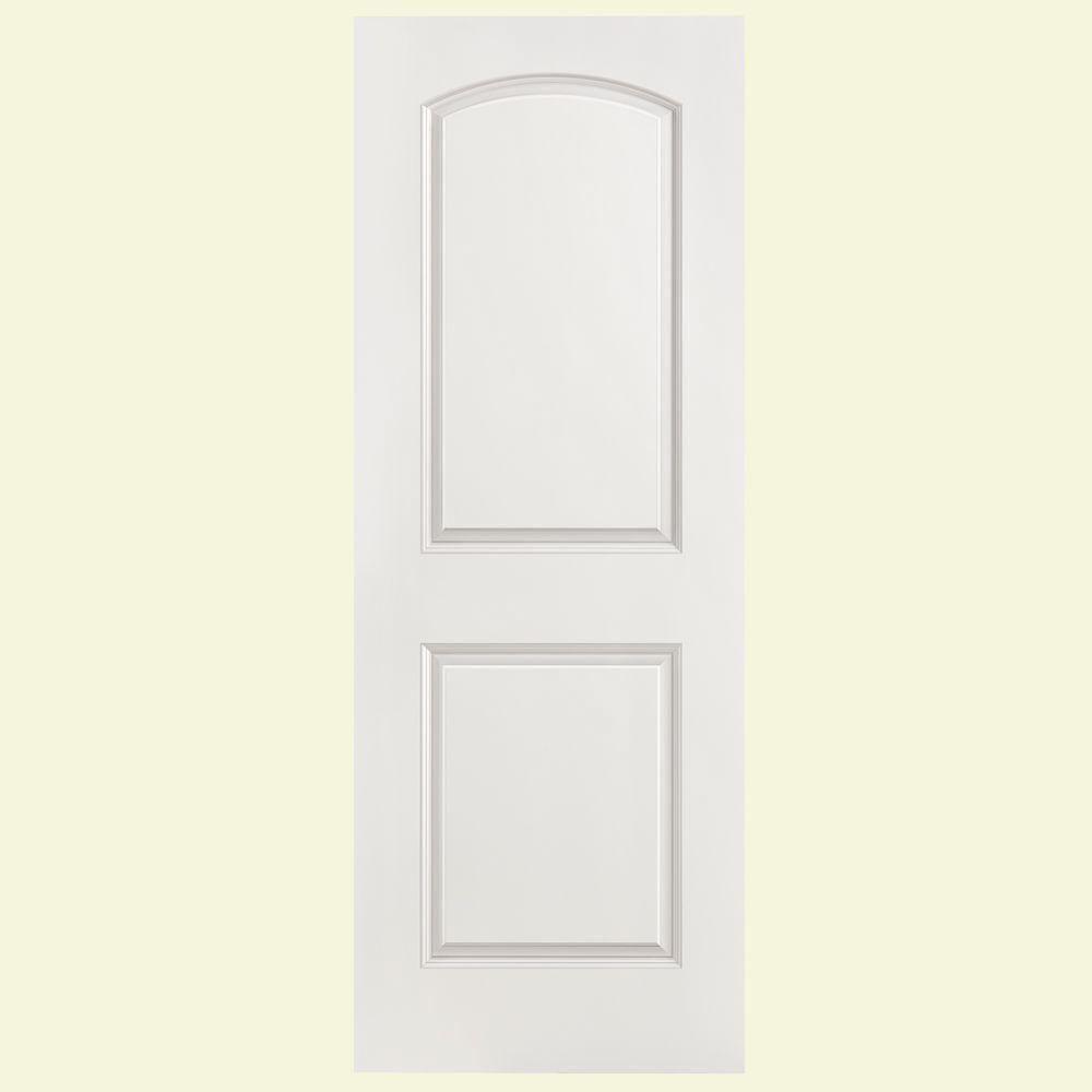 Masonite 28 In X 80 In Solidoor Roman Smooth 2 Panel Round Top Solid Core Primed Composite Interior Door Slab 24928 Prehung Interior Doors Masonite Interior Doors Prime Composite