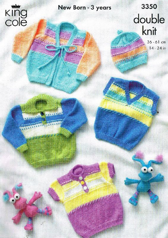 King Cole 3350 Toddler Baby Jumpers Knitting Pattern On Ebid United